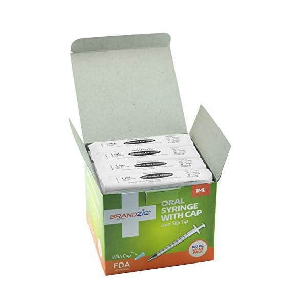 buy  1ml Syringe with Cap (100 Pack)   Oral Dispenser ... Diabetes Care