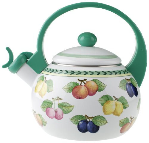 Villeroy & Boch French Garden Kitchen Tetera, 2 l, Metal, Colorido/Verde