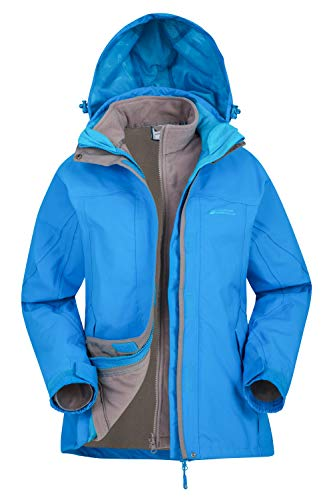 Mountain Warehouse Storm 3 in 1 Womens Waterproof Rain Jacket Turquoise 12