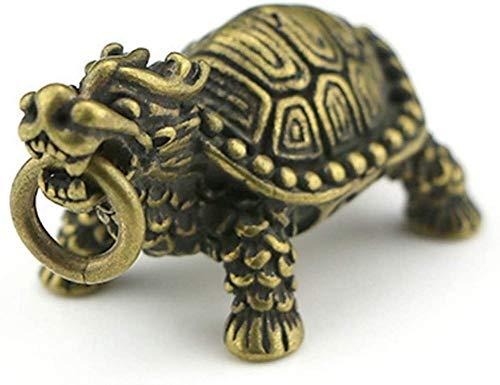 Accesorios para El Hogar Estatua De Latón con Forma De Tortuga Dragón Feng Shui, Figura De Riqueza para Decoración del Hogar, Regalos, Tortuga Dragón De 3 Pulgadas