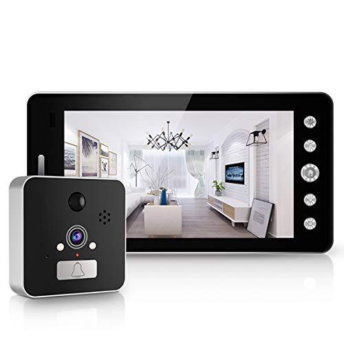 ZHBD Timbre con Video Inteligente 1080P HD, Timbre con Video WiFi con Conversación Bidireccional, Timbre De Seguridad para El Hogar Se Puede Almacenar En Nube, Kits para Seguridad En El Hogar.