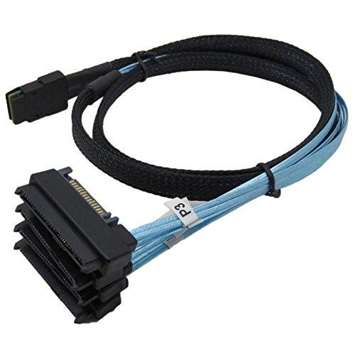 Nuttige Mini SAS 36P SFF-8087 naar (4) SFF-8482 connectoren met SATA-voedingskabel 3FT