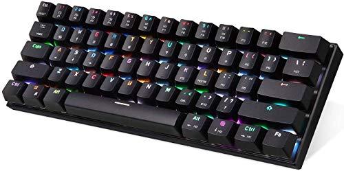 CK62 verdrahtet Dual-Mode-Bluetooth-Mini-61-Taste mechanische Tastatur Telefontablette universal ANGANG