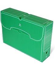 Grafoplás 70905820. Pack de 25 Cajas de Archivo Definitivo Plástico, Color Verde, Tamaño Folio, 36x26,3x9,5cm