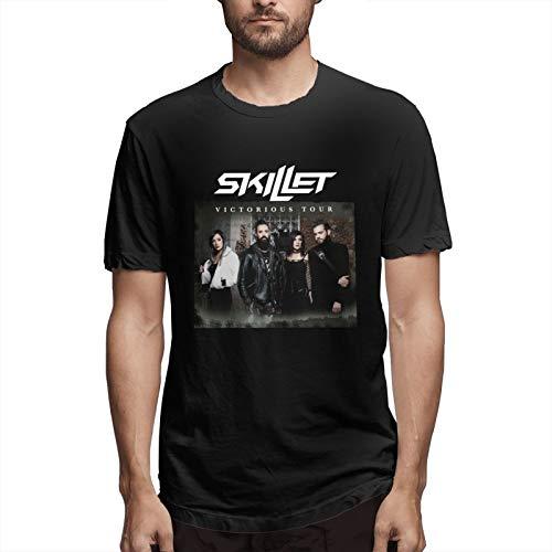 MinaGKD Mens Sports Tshirt Sk-Ille-T Short Sleeve Running Cotton Teexl Black