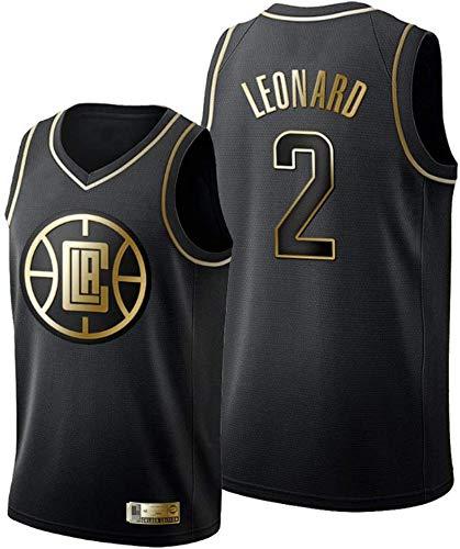 Camisetas de Baloncesto de los Hombres, NBA Los Angeles Clippers # 2 Kawhi Leonard - Chaleco Transpirable Uniformes Classic Comfort Camiseta sin Mangas Tops Sportswear