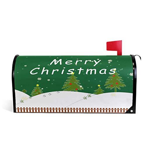 Weihnachtsfeiertagsbaum Snowy Xams Snowflake Mailbox Covers Magnetic 21 'x 18'