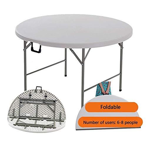 AI LI WEI kantoor Viva/opbergtafel, eenvoudig, inklapbaar, eettafel voor binnen en buiten, gemakkelijk op te bergen, wit (kleur: B)