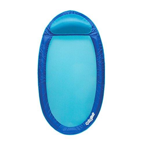 SwimWays Original Spring Float - Floating Swim Hammock for Pool or Lake - Dark Blue/Light Blue