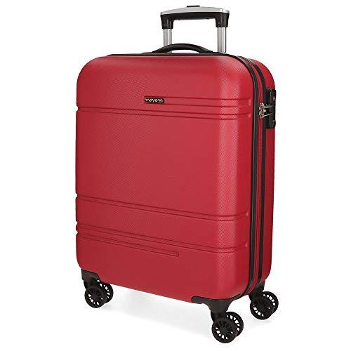 Movom Galaxy Maleta de cabina Rojo 39x55x20 cms Rígida ABS Cierre TSA 36L 2,9Kgs 4 Ruedas Dobles Equipaje de Mano