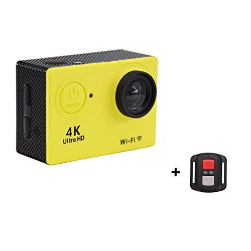 Kongqiabona-UK Cámara Cámara de acción Ultra 4K / 30fps WiFi 2.0'170D Casco Impermeable Submarino Cámaras de grabación de Video Cámara Deportiva