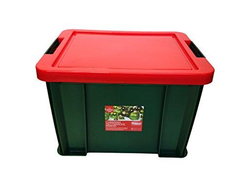 Whitefurze Boîte 36 Décoration de Noël 36 Décoration de Noël boîte avec 2 Plateaux, Vert/Rouge