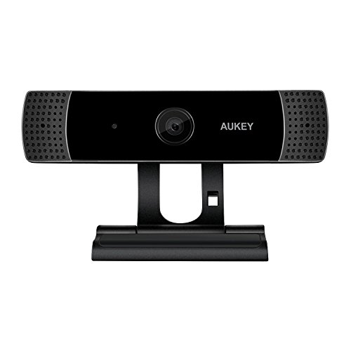 AUKEY Webcam 1080P Full HD con Microfono Stereo, Webcam per Chat Video e Registrazione, Compatibile con Windows, Mac e Android