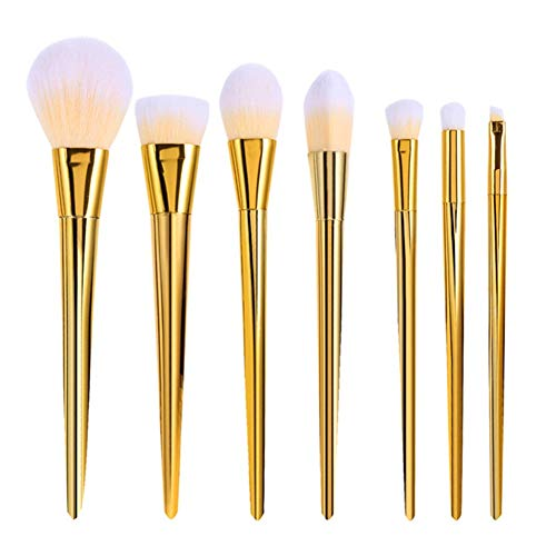 ZXIAOMEI Brosse de Maquillage de Jeu d'or de Maquillage de poignée Conique Poils de Fibres synthétiques Non-Irritant for la Fondation Mixte Blush Eyeliner Fard à paupières
