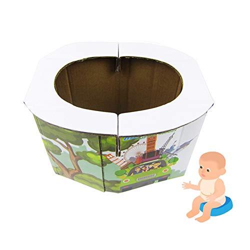 WDSZXH Portátil Bebe WC Plegables, Plegables A Bordo de inodoros de Emergencia Inodoro para bebés Acampar Viajar Senderismo (Size : 3/Pack)