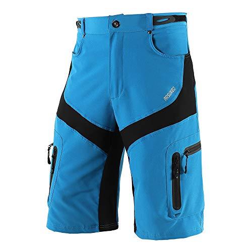 Lixada Pantalones Cortos de Ciclismo Hombres Tipo Casual Capri Pantalones Cortos para MTB Ciclismo Alpinismo Deportes al Aire Libre
