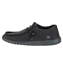 The Hey Dude™ Wally L Sox will be an instant favorite in your modern-casual collection. Bi-component knit upper material offers a flexible fit. Lace-up construction. Rounded toe. Low-top, chukka construction. Signature logo details throughout. Soft, ...