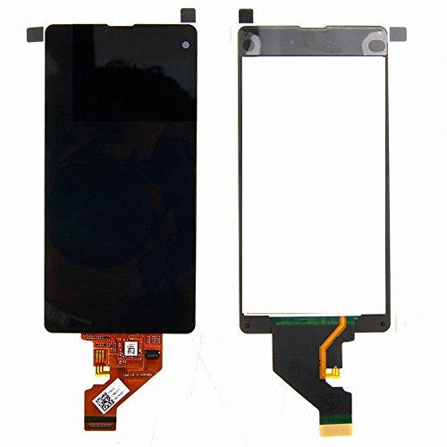 WeDone kompatibel mit Sony Xperia Z1 Mini Compact D5503 LCD Display Touchscreen Digitizer Glas Assembly Ersatzteile + Werkzeuge (schwarz)