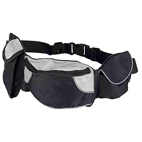 Trixie 3237 Dog Activity heuptas Baggy Belt, riem: 62-125 cm, zwart/grijs