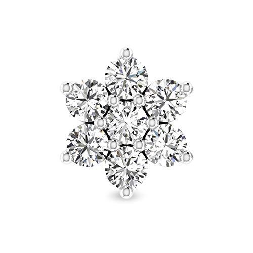 Rosec Jewels - 18 Karat Weißgold Runder Brilliantschliff Leicht Getöntes Weiß/Top Crystal (I) Diamant