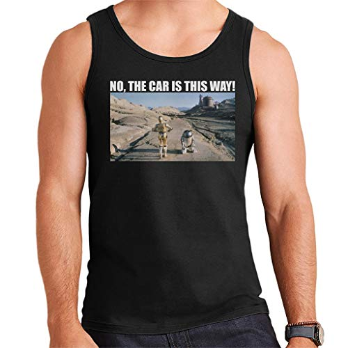 Star Wars Droids No The Car is This Way - Chaleco para hombre