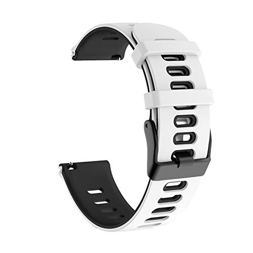 Para Samsung Galaxy Watch Active 2 40mm 44mm Strap Sport Pulsera Silicone WatchBand Active2 20mm Reloj Correa para GT2 42mm *4* (Band Color : White, Band Width : 20mm)