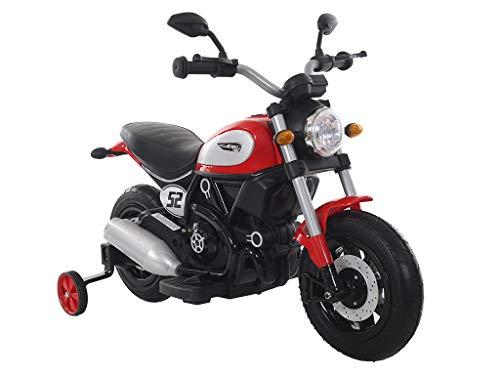 TEOREMA Elektrische Motorräder mit Lichtern und Sounds, Pedal-Beschleuniger aus Gummi, Rot, 66416
