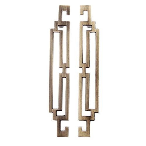 Tiradores de puerta de armario de cocina, estilo retro vintage, 128 mm bronce antiguo., 2 unidades