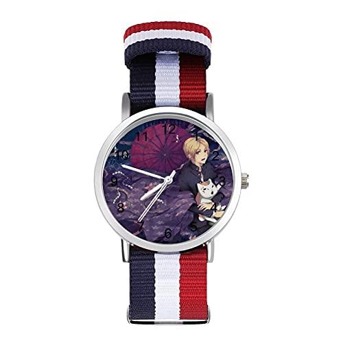 Natsume's Book of Friends- Reloj de pulsera trenzado con escala de moda, ajustable, banda de impresión a color, adecuado tanto para hombres como para mujeres
