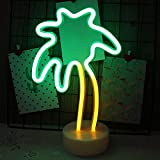 XVZ LED Neon Sign Light, Cute Coconut Tree-Shaped Interior Decoration Night Light, Neon Light Table Light Decoration Kid Girl Gift for Birthday Holiday Halloween Party Supplies Girls Room