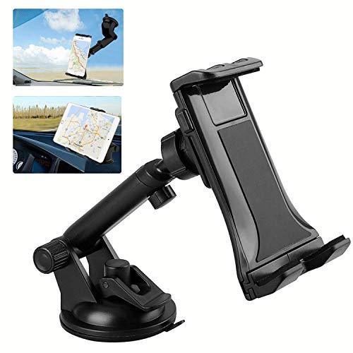Soporte universal para tablet de coche para parabrisas compatible con Samsung Galaxy/iPad Pro/Air, iPad/iPad Mini/iPhone (4' - 12')