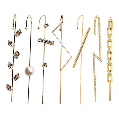 Pendientes de gancho para oruga, diseño clásico con diamantes de imitación para mujeres, niñas, bodas, delicados, pendientes de aguja de alambre para trabajo, citas, aniversario, fiesta de Navidad