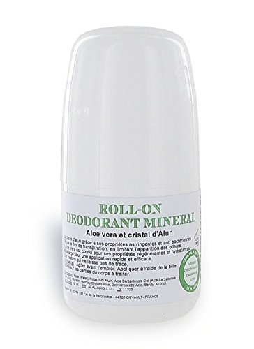 Desodorante de bola roll-on con cristal de alumbre de 50 ml - sin clorhidrato de aluminio