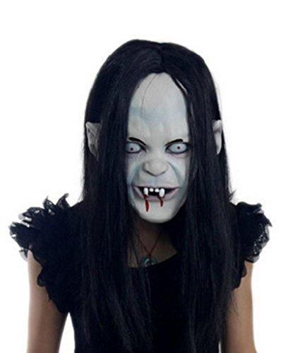 La Vogue Masque Halloween Mask The Ring Sorcière aux Cheveux Noirs Effrayant