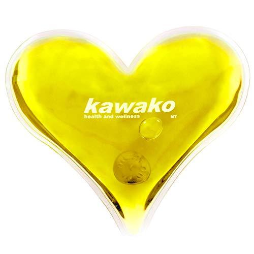 kawako Taschenwärmer/Handwärmer Herz in gelb TW HG135125, Anzahl:6er Set