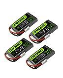 OVONIC 3.7V 750mAh 1S1P 30C Molex Plug LiPo Battery for Syma X5C X5SW Micro Quad 4pcs