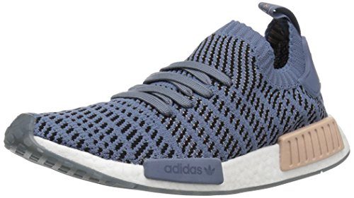 adidas Originals Women's NMD_R1 STLT PK Running Shoe, raw Steel/ash Pearl/White, 9 M US