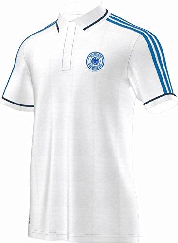 adidas Herren Poloshirt DFB, Weiß/Blau, M