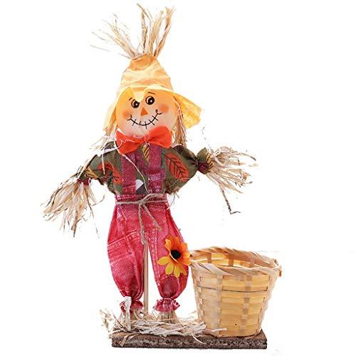 ZHENDe Halloween Vestir espantapjaros Que est Cesta de bamb Cesta de la Flor de decoracin de Interior Linda suministra la decoracin Escena Disposicin Puntales (Color : A)