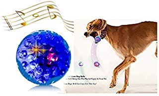 Sheraton Luxuries 3 Led Dog Balls Toys Light Up Play Funny Sounds, 3 Different Ways to Captures Dogs Attention,Easy to Grab for Small and Medium Dogs, High Bounce Fetch Ball