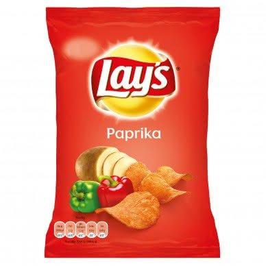 20 kleine Tüten Lays Chips Paprika a 35g Orginal