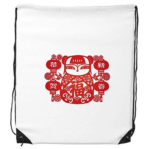 DIYthinker Roter Mädchen-Papier-Schnitt-Blumen-Laterne-Rucksack Einkaufssporttaschen Geschenk