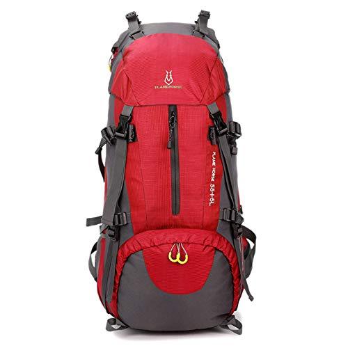 Bolso de Alpinismo al Aire Libre, Hombro, Hombres y Mujeres, Mochila de Viaje de Gran Capacidad 60L, Bolsa de Viaje Impermeable de Nylon