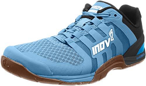 Inov-8 Womens F-Lite 235 V2 - Lightweight Minimalist Cross Training Shoes - Zero Drop - Athletic Shoe for Gym, Training and Weight Lifting - Wide Toe Box - Light Blue/Gum M5/ W6.5