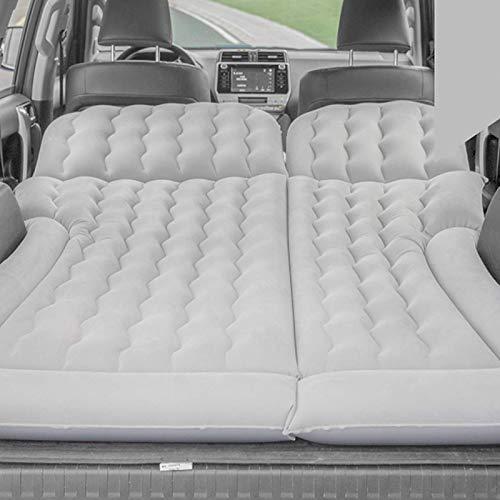 Ruisyi Colchón inflable para coche, kit de colchón cama y cojines inflables para coche con inflador, colchón para exterior, casa, camping, coche, 174 x 126 cm (gris)