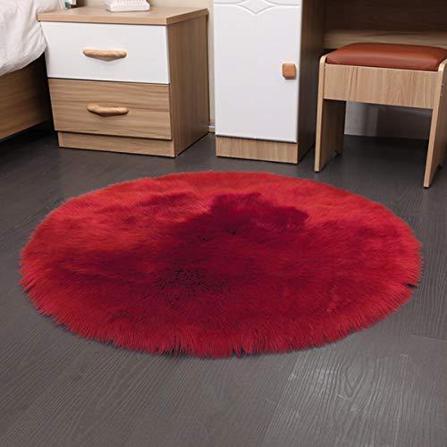 YRRC Faux Imitation SHEEPSKIN Rug Ultra Soft Plush Extra Large Size Rugs Living Room Shaggy Fluffy Pile Modern Area Rugs Carpet Non Shedding,35 * 35cm