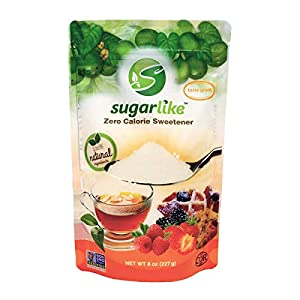 SugarLike Monk Fruit Sweetener (0.5LB) - Zero Calorie & Zero Carbs, Keto & Diabetic Friendly, 1:1 Sugar Substitute, No Aftertaste, All Natural Ingredients, Non-GMO