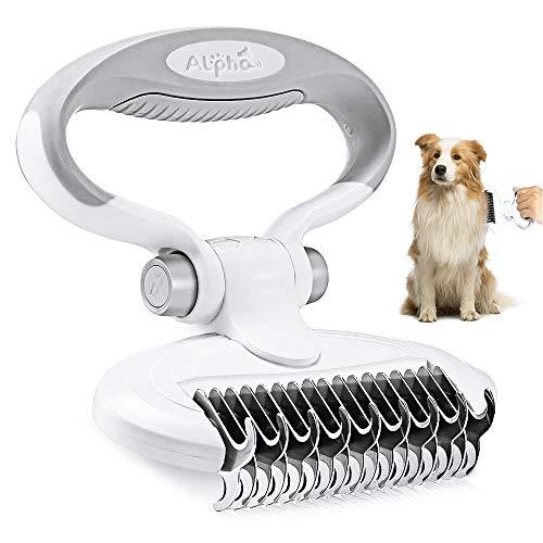 CestMall Hundebürste & Katzenbürste Fellpflege Hund, Unterfellbürste Entfilzungsstriegel für Hunde & Katzen mit Mittel- bis Langhaar - Unterwollbürste gegen Verfilzungen & Unterwolle