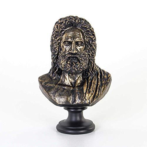 Euro Flora Zeus Escultura Busto color bronce 23x15x37