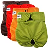 vecomfy Washable Dog Diapers Female for Small Dogs 4 Pack,Premium...